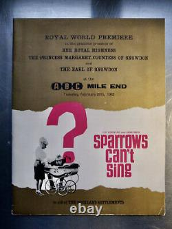 Original Film Script Sparrows Can't Sing Barbara Windsor + World Premier Program