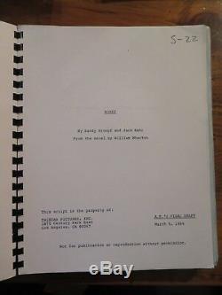 Original Movie Film Script BIRDY 1984 Nicolas Cage Matthew Modine Alan Parker
