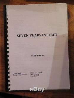Original Movie Film Script SEVEN YEARS IN TIBET 1997 Brad Pitt
