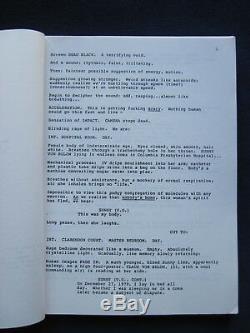 Original REVERSAL OF FORTUNE Script JEREMY IRONS, GLENN CLOSE Film