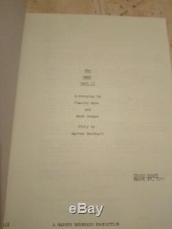 Original horror film script Damien omen 2