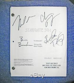 Original movie script stargate SG1 Contiunuum Film-Drehbuch 2008