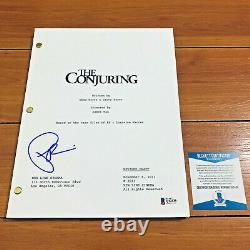 PATRICK WILSON SIGNED THE CONJURING FULL PAGE MOVIE SCRIPT with BECKETT BAS COA