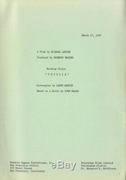 PETULIA (1967) Vintage original script Richard Lester film adapted fr John Haase