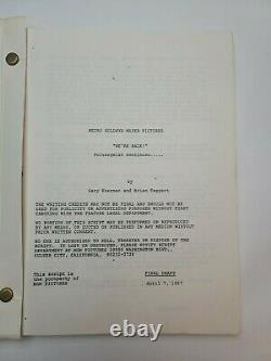 POLTERGEIST III / Lawrence Kasdan 1987 Screenplay Office Copy, supernatural film