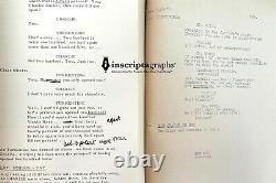 Paris Themmen's 1971 Willy Wonka Actual Movie Used Script for Mike TV COA Prop