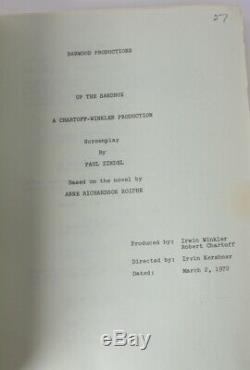 Paul Zindel, Manuscript Screenplay film UP THE SANDBOX Barbara Streisand 1972