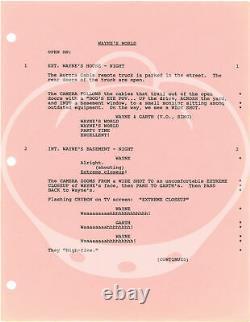 Penelope Spheeris WAYNE'S WORLD Original screenplay for the 1992 film #150368