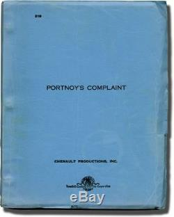 Philip Roth PORTNOY'S COMPLAINT Original screenplay for the 1972 film #135317