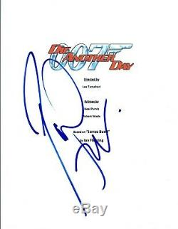Pierce Brosnan Signed Autographed DIE ANOTHER DAY James Bond Movie Script COA VD