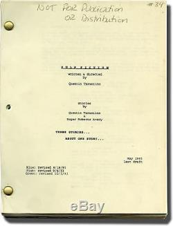 Quentin Tarantino PULP FICTION Original screenplay for the 1994 film #144423