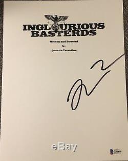 Quentin Tarantino Signed Autograph Inglourious Basterds Movie Script Beckett