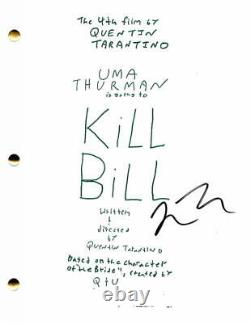 Quentin Tarantino Signed Autograph Kill Bill Full Movie Script Uma Thurman