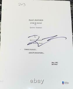 Quentin Tarantino Signed Autograph Pulp Fiction Rare Movie Script Beckett A