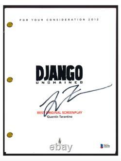 Quentin Tarantino Signed Autographed DJANGO UNCHAINED Movie Script Beckett COA