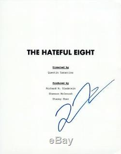 Quentin Tarantino Signed Autographed THE HATEFUL EIGHT Full Movie Script COA VD
