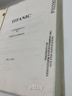 RARE- May 6, 1996 TITANIC Movie Script James Cameron LIGHTSTORM P10282
