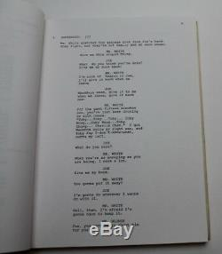 RESERVOIR DOGS / Quentin Tarantino 1991 Original Movie Script Screenplay