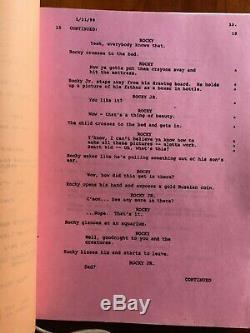 ROCKY V. FILM USED ORIGINAL SHOOTING SCRIPT Sylvester Stallone 1990. RARE