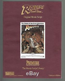 Raiders of the Lost Ark Original Movie Script by Lawrence Kasdan 1st Printing