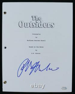 Ralph Macchio (Johnny Cade) Signed The Outsiders Movie Script (ACOA COA)