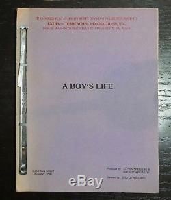 Rare Original Film Script E. T. The Extraterrestrial Spielberg Boy's Life