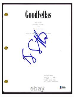 Ray Liotta Signed Autographed GOODFELLAS Movie Script Henry Hill Beckett BAS COA