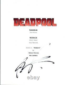 Rob Liefeld Signed Autographed DEADPOOL Movie Script Screenplay COA