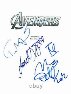 Robert Downey Jr, Samuel L Jackson +2 Signed Autograph The Avengers Movie Script