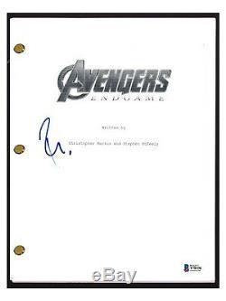 Robert Downey Jr Signed Autograph The AVENGERS ENDGAME Movie Script Beckett COA
