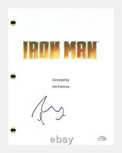 Robert Downey Jr. Signed Autographed IRON MAN Movie Script ACOA COA