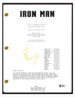 Robert Downey Jr Signed Autographed IRON MAN Movie Script BAS Beckett COA