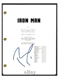 Robert Downey Jr. Signed Autographed IRON MAN Movie Script Screenplay COA