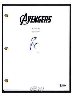Robert Downey Jr Signed Autographed THE AVENGERS Movie Script BAS Beckett COA
