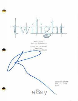 Robert Pattinson Signed Autograph Twilight Full Movie Script The Batman