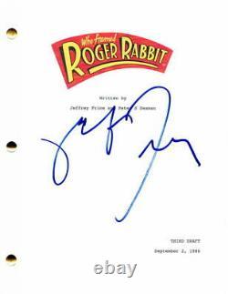 Robert Zemeckis Signed Autograph Who Framed Roger Rabbit Full Movie Script