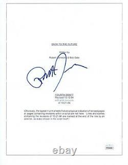 Robert Zemeckis Signed Autographed BACK TO THE FUTURE Movie Script JSA COA Cert