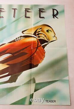 Rocketeer Original 1991 UK Quad Teaser Film Poster cinema folded comic book