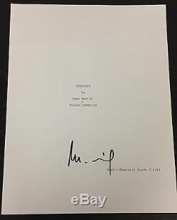 Roland Emmerich Signed Autograph Rare Stargate Complete Movie Script Coa