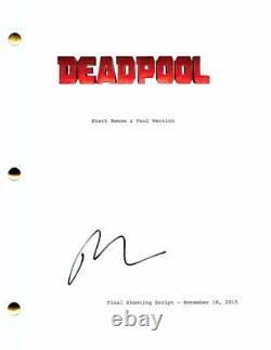 Ryan Reynolds Signed Autograph Deadpool Full Movie Script Detective Pikachu