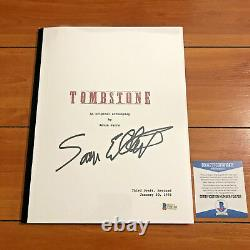 SAM ELLIOT SIGNED TOMBSTONE FULL 120 PAGE MOVIE SCRIPT with BECKETT BAS COA
