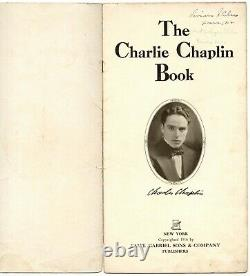 SCARCE 1916 THE CHARLIE CHAPLIN BOOK 1st written about worlds biggest star withPX