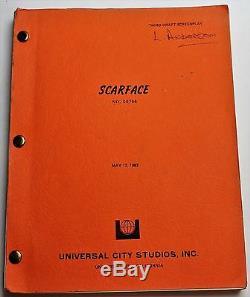 SCARFACE / Oliver Stone 1982 Original Movie Script Screenplay, Brian De Palma