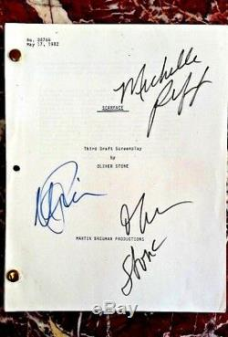 SCARFACE SIGNED MOVIE SCRIPT No00766 MAY 17, 1982 Pacino, Stone, Pfeifer