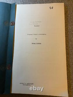 SEE NO EVIL / BLIND TERROR Original Brian Clemens Film Script