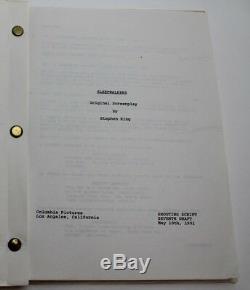 SLEEPWALKERS / Stephen King 1991 Movie Script Screenplay, supernatural creatures