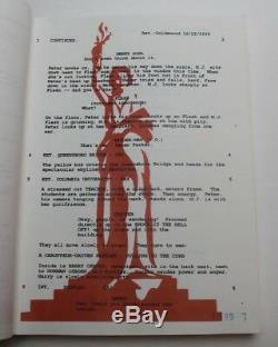 SPIDER-MAN / Stan Lee 2001 Movie Script Screenplay Tobey Maguire as Peter Parker