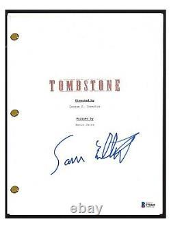 Sam Elliott Signed Autographed TOMBSTONE Full Movie Script Beckett BAS COA