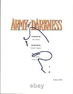 Sam Raimi Signed Autographed ARMY OF DARKNESS Movie Script COA VD