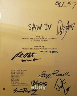 Saw 4 Movie Script Signed By 10 -Betsy Russell- Mark Burg Jigsaw